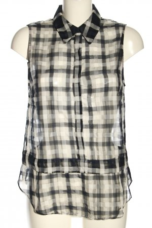 A.L.C. Sleeveless Blouse black-natural white check pattern casual look