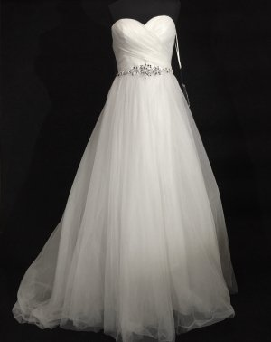 Vestido de novia blanco puro