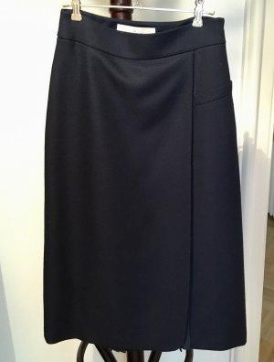 A-Line Wool-blend twill skirt
