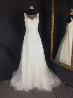 A-Linie, Brautkleid, Hochzeitskleid mit Spitzen und Schleppen 03008