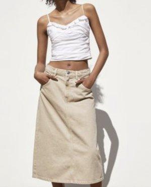 A-linie Midi jeans Rock zara gr XS/S