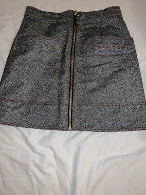 Acne Studios Spódnica mini ciemnoszary Bawełna