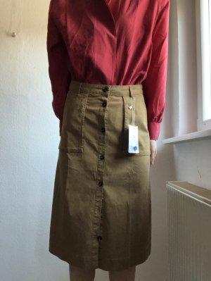 Comptoir des Cotonniers Midi Skirt grey brown-beige
