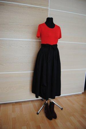 Hallhuber High Waist Skirt black