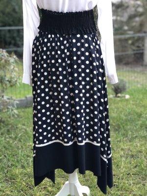Part two Godet Skirt dark blue-white