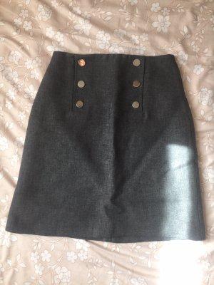 Hallhuber Wollen rok grijs