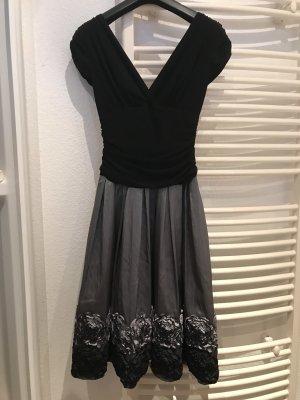 S.L. Fashion Robe trapèze noir-argenté
