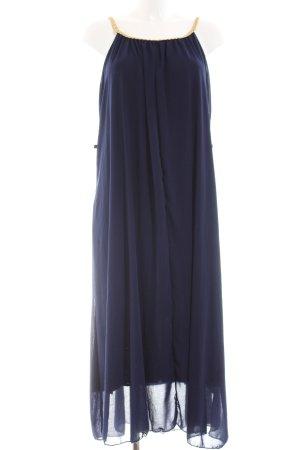 A-Linien Kleid dunkelblau-goldfarben Elegant