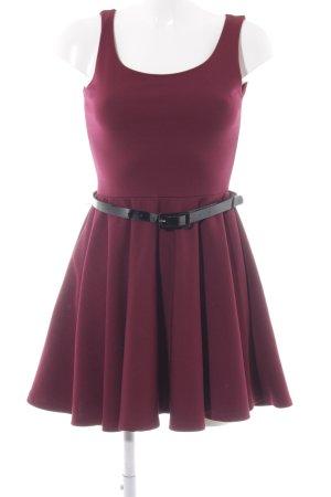 Sparkz A-Linien Kleid dunkelrot-schwarz Elegant