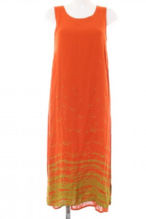 Animale A Line Dress light orange-primrose abstract pattern casual look