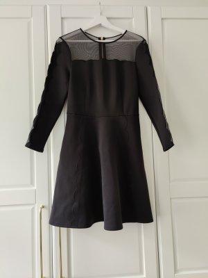 A-Linien Kleid mit Mesh-Einsätzen und Muschelsaum von Ted Baker