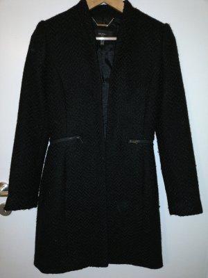 Mango Manteau long noir-argenté