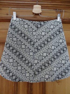 Pull & Bear Falda de lana blanco puro-negro