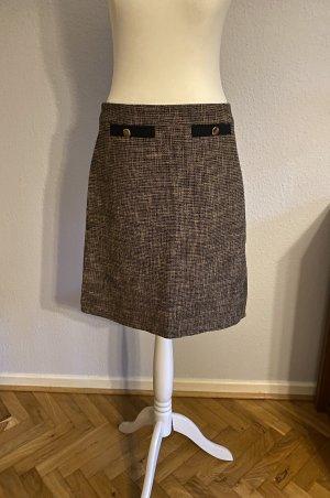 Hallhuber Wełniana spódnica czarny-jasnobrązowy