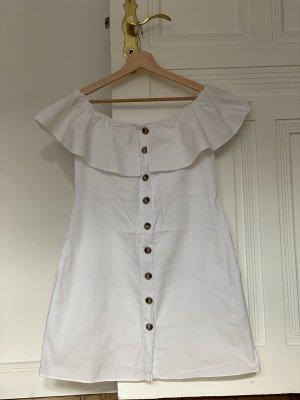 A-linienförmiges off-shoulder Kleid ZARA
