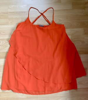 A- Linienkleid Orange