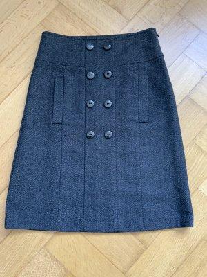 Zara Basic Jupe en laine noir-blanc