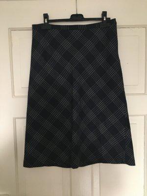 Zara Basic Falda de lana azul oscuro-gris pizarra rayón