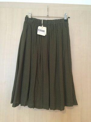 American Vintage Falda midi verde oliva-caqui