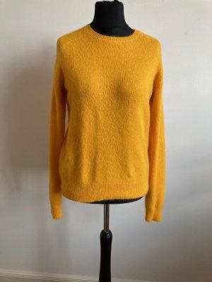 H&M Maglione di lana giallo-oro Lana d'angora