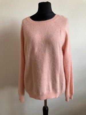H&M Długi sweter jasny różowy Angora