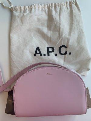 A.P.C. Sac bandoulière rosé cuir