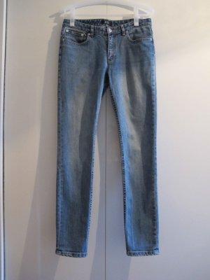A.P.C. Jeans Hose 28 blau Jean Moulant Boyfriend Mom APC hellblau