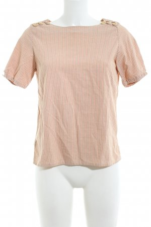 A.P.C. Kurzarm-Bluse nude Streifenmuster Business-Look