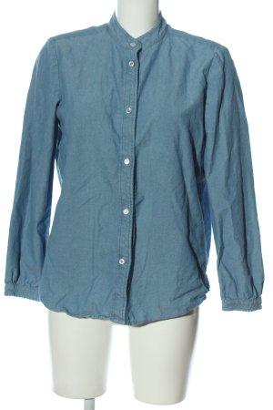 A.P.C. Camisa de manga larga azul look casual
