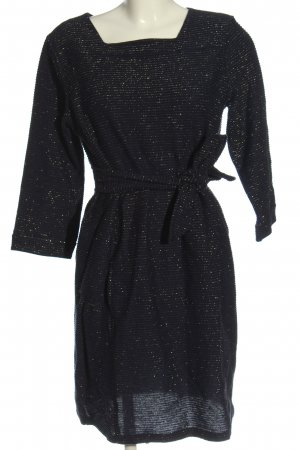 A.P.C. Longsleeve Dress black-silver-colored flecked wet-look