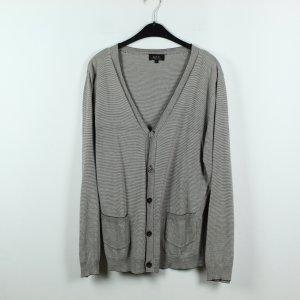 A.P.C. Veste en tricot blanc-gris brun coton