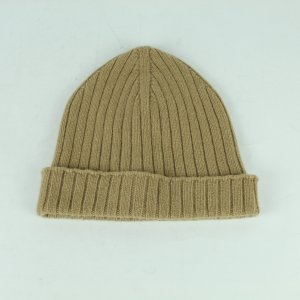 A.P.C. Knitted Hat sand brown wool