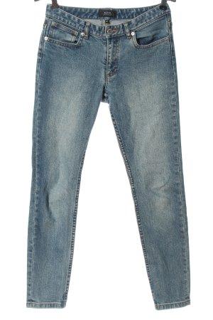 A.P.C. Jeans cigarette bleu style décontracté