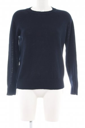 A.P.C. Kraagloze sweater blauw casual uitstraling