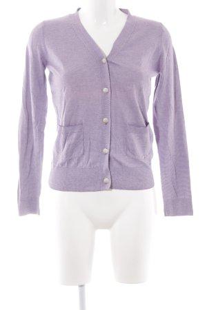 A.P.C. Veste en tricot lilas-blanc cassé coton
