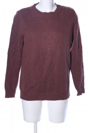 A.P.C. Knitted Sweater brown flecked casual look