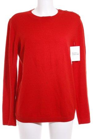 A.P.C. Pull tricoté rouge Motif de tissage style décontracté