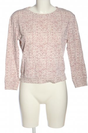 A.P.C. Knitted Jumper pink-white abstract pattern casual look