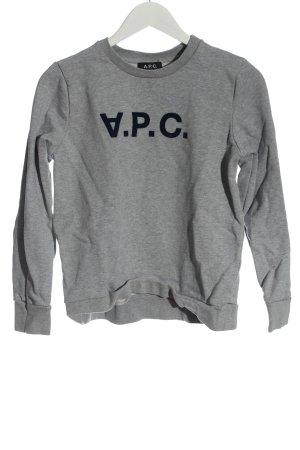 A.P.C. Sweatshirt gris clair moucheté style décontracté