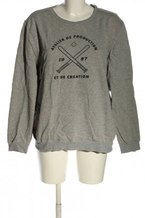 A.P.C. Sweat Shirt light grey-black flecked casual look