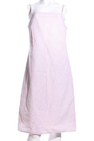 A.P.C. Robe à bretelles rose-blanc imprimé allover style décontracté