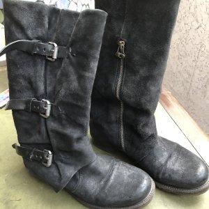 A.S.98 Cothurne noir cuir
