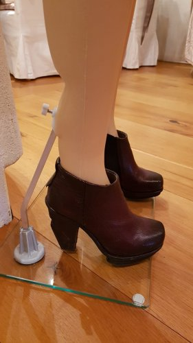 A.S.98 Ankle Boots blackberry-red leather