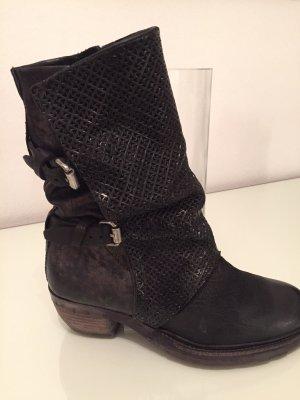 AS98 Chukka boot noir cuir