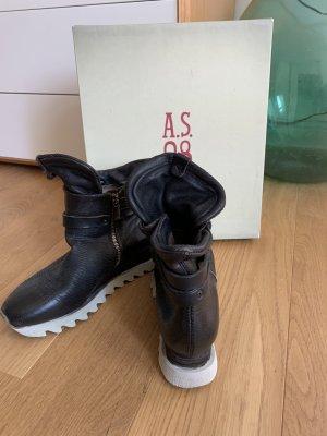 A.S.98 Botas de tobillo marrón oscuro-marrón-negro