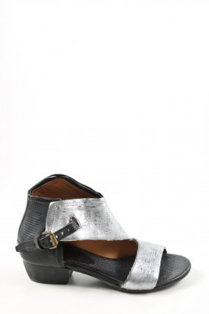 A.S.98 Cut Out Booties light grey-black casual look