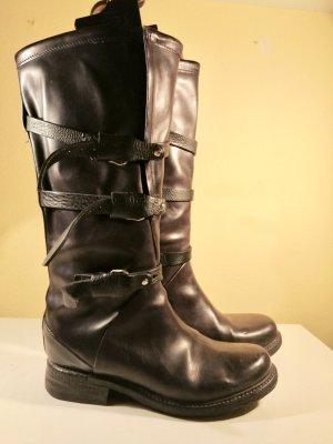 A.S.98 Biker Boots black leather