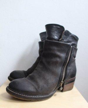 A.S.98 Borceguíes negro-gris antracita Cuero