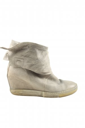 A.S.98 Botas de cuña color plata look casual
