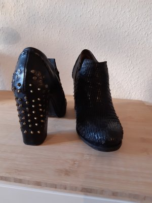 A.S.98 Chaussure à talons carrés noir